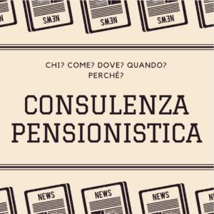 consulenza pensionistica